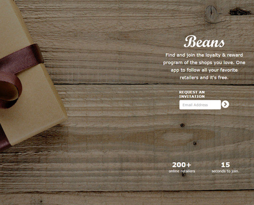 beans loyalty card service shopping