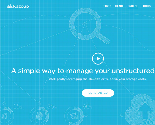 cloud data management storage kazoup