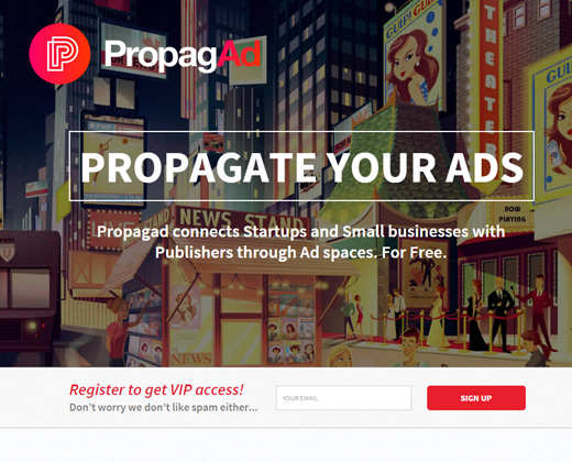 propagad ads online advertising startup