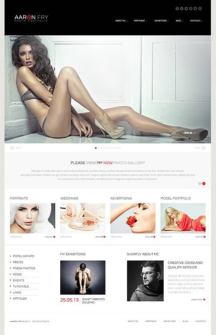 Photographer Folio WordPress Theme