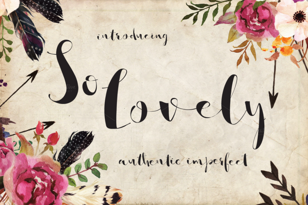 so-lovely-font