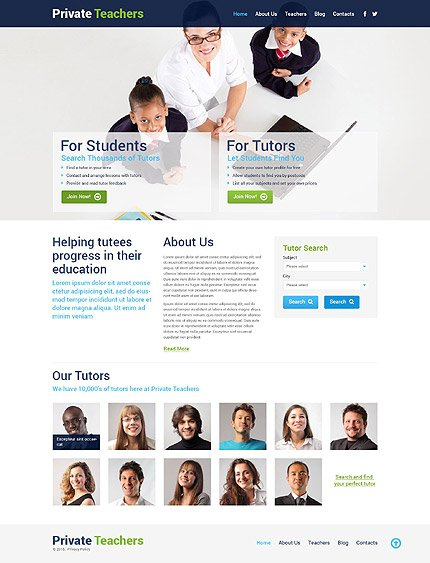 Education Services WordPress Theme