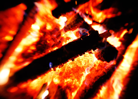 טקסטורות של אש
