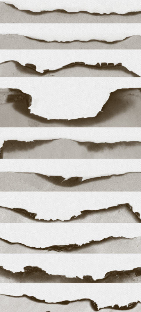Freebie Friday: 10 Burned Paper Edge Brushes