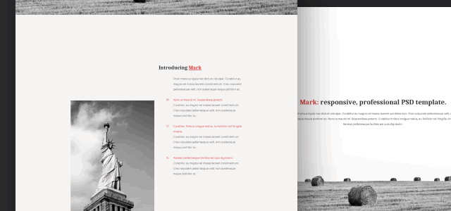 Mark Web Template