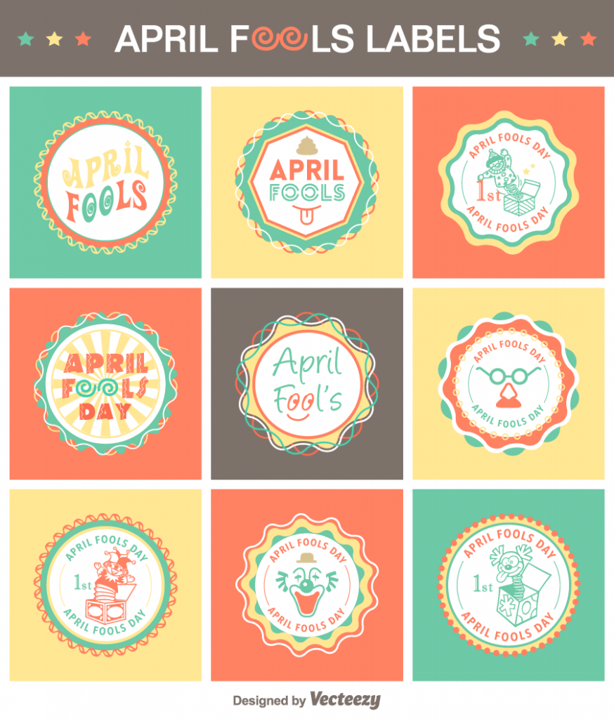 april-fools-vector-labels-preview