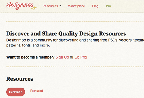 DesignMoo web design layout