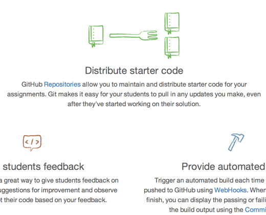 github education portal icons homepage
