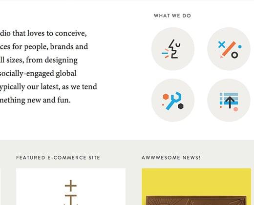 ludlow kingsley creative agency homepage icons