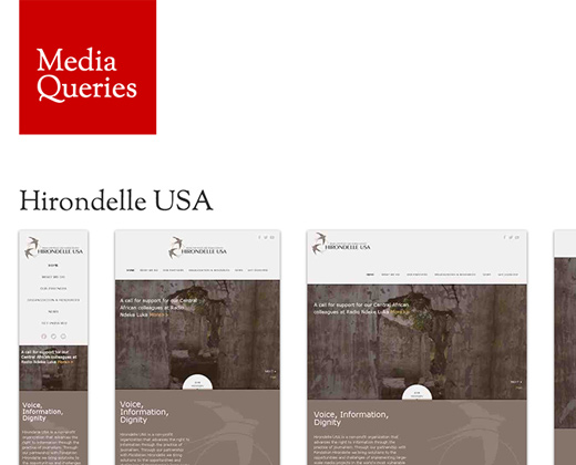 rwd responsive media queries homepage