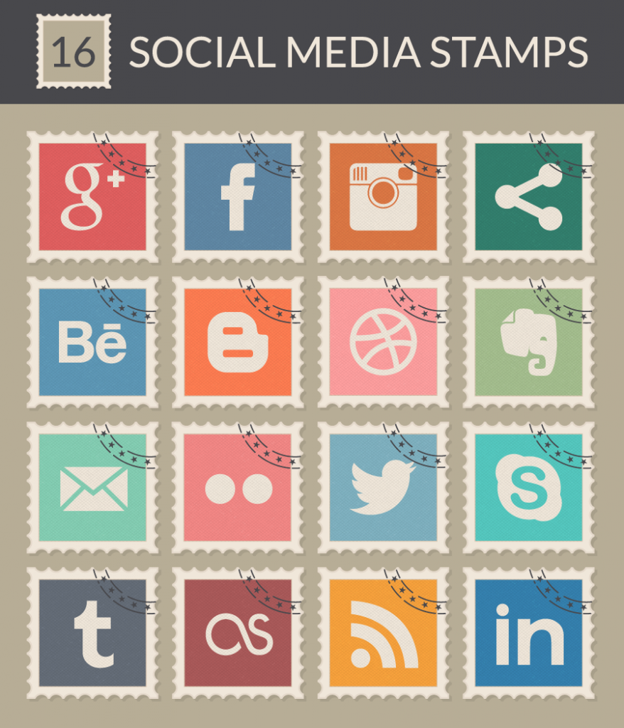 social-media-stamps-vector-preview