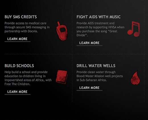 red grunge chalk icons take the walk homepage