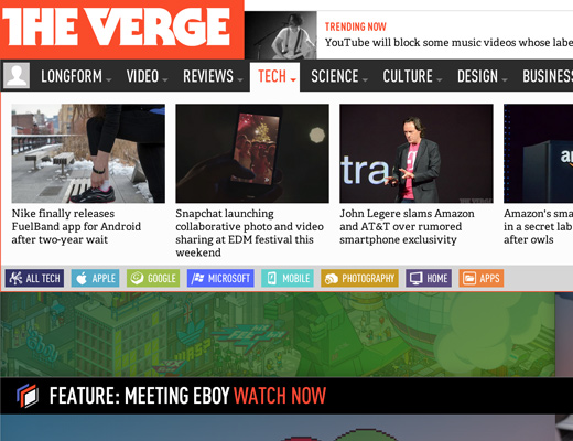 the verge meganav menu dropdown animation
