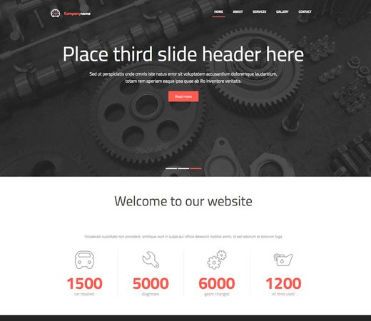 auto garage free responsive website template - Free Responsive Website Templates