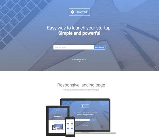 Start Ups Free Responsive Website Template