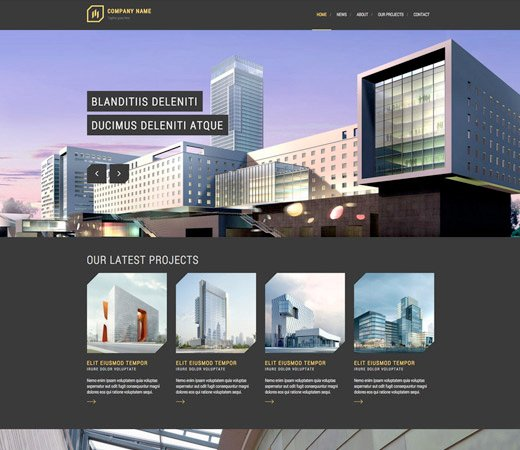free website template for architects