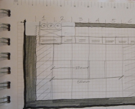 website sketch wireframe basic thumbnail design
