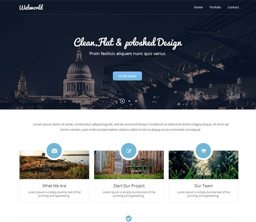 webworld corporate flat responsive template
