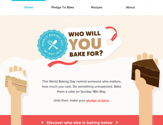 world baking day 2014 website animated effects screenshot